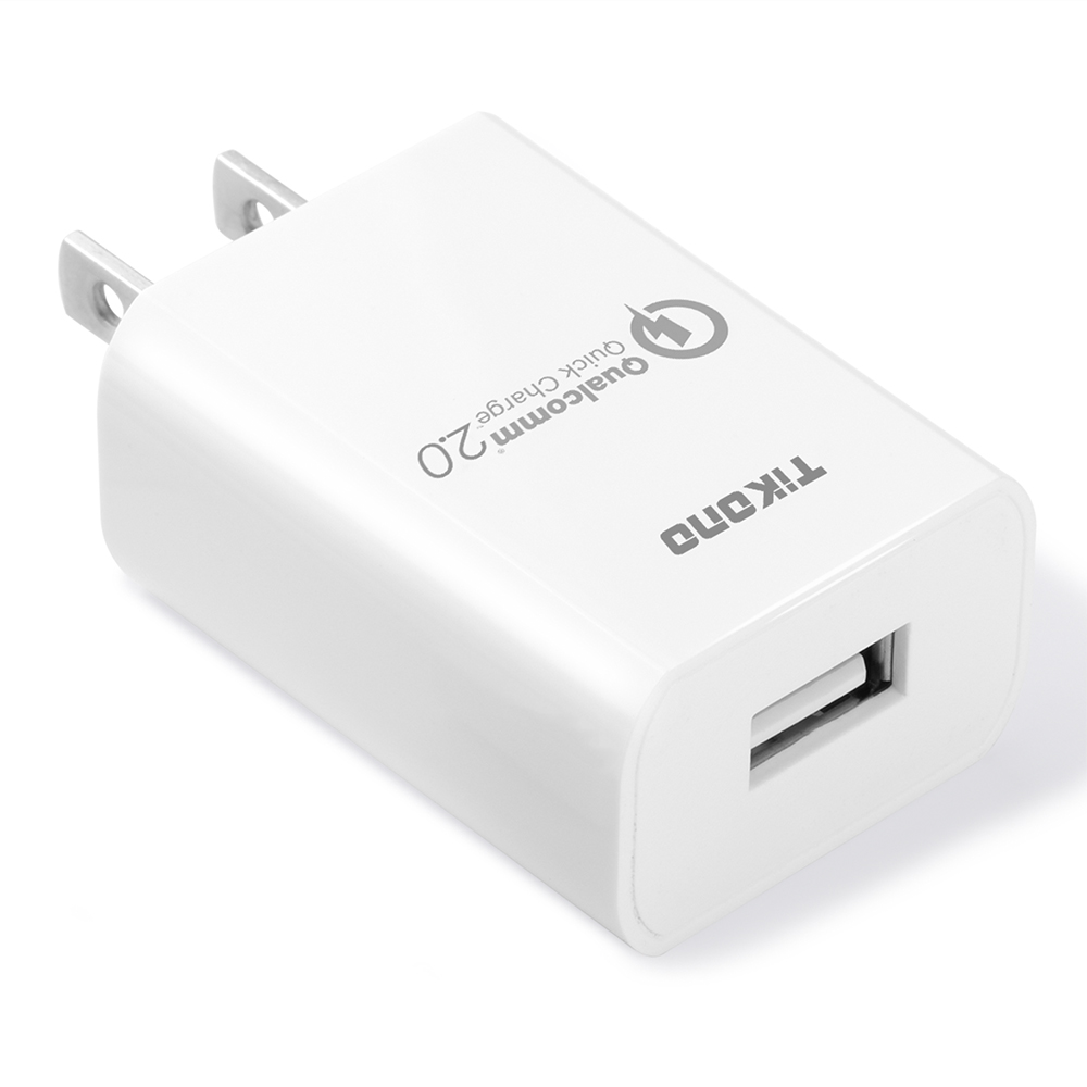 Tikono-telefon USB-oplader Quick Charge 2.0 USB-rejseladeradapter Smart hurtigoplader til iPhone Samsung Xiaomi iPad Tablet