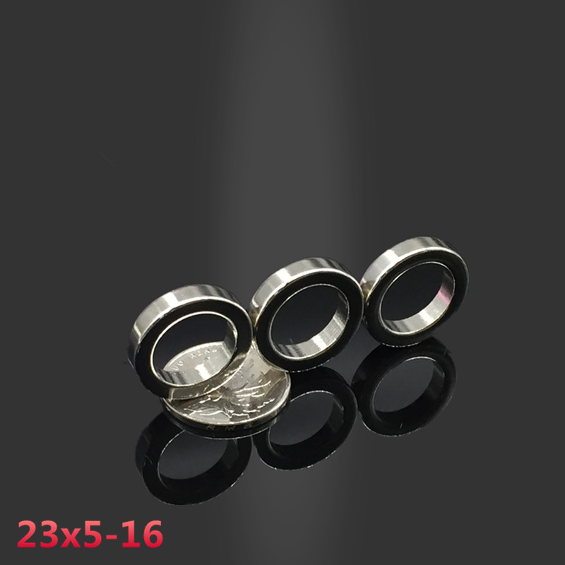 5Pcs Square Round Hole Super Strong N52 Neodymium Rare Earth Magnet 15x15x5mm