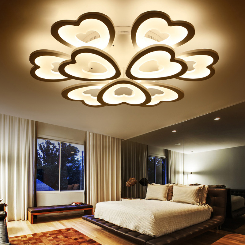 Led Crystal Ceiling Lamp Round Modern Minimalist Master Bedroom Lamp Warm Romantic Room Lamp Restaurant Lighting Ceiling Lights & Fans