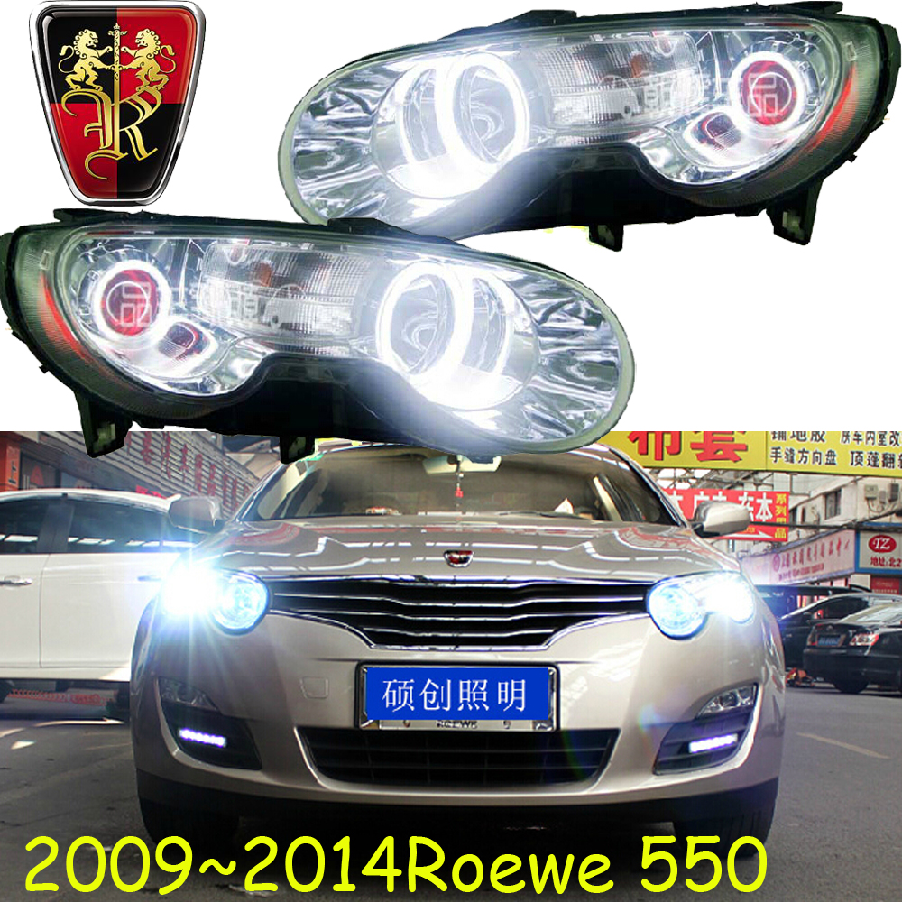 Roewe headlight,550,2009~2013,Fit for LHD and RHD,Free ship! Roewe fog light,350 750 950,w5,rx5; Roewe 550