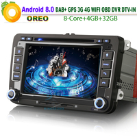 7 Android 8.0 DAB+ WiFi 3G Sat Nav Autoradio USB GPS Bluetooth Car Stereo RDS BT DVD CD Car Radio SD DVR DTV for VW Scirocco