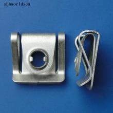 shhworldsea 100pcs bolts car  clips and fastener Engine under guard nut for audi for VW passat