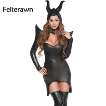 Feiterawn 2017 nueva sexy bruja hechicera oscuro con estilo cosplay disfraces de halloween deguisement adultes dress up disfraces dl8980
