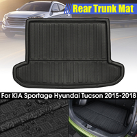 Rear Cargo Boot Liner Trunk Floor Mat Tray Carpet Mats Mud Kick for KIA Sportage 2016 2017 2018 For Hyundai Tucson