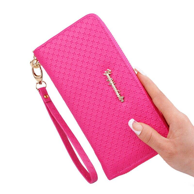 En kaliteli çanta kadın cüzdan 2018 deri uzun marka fermuar kart - Cüzdanlar - Fotoğraf 4