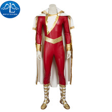 MANLUYUNXIAO  New Men's Captain Marvel Shazam Cosplay Costume Deluxe Outfit Halloween Carnival Costumes For Men