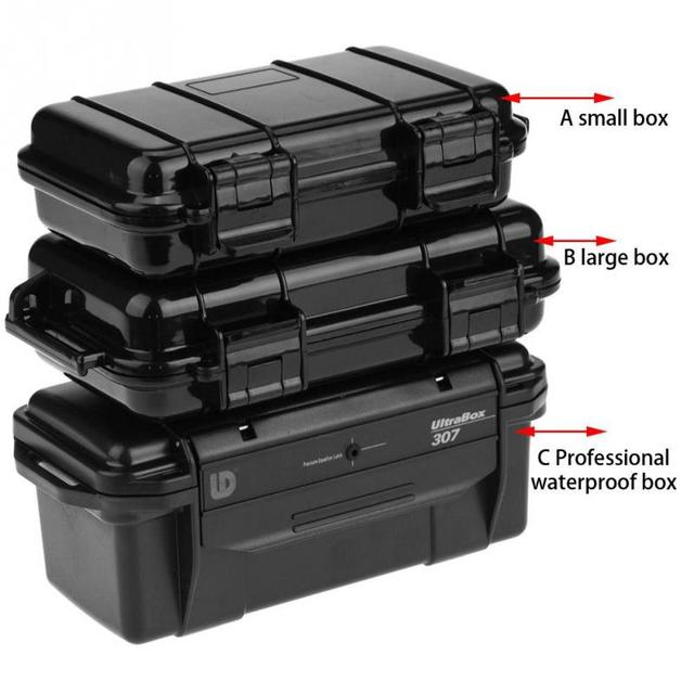 Outdoor Survival Case Container Camping Outdoor Travel Storage Box Shockproof Waterproof Sealed Box for Hiking Camping