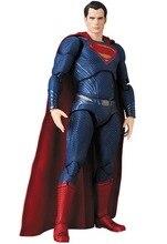 DC Superman SHF SHFiguarts Medicom Toy MAFEX 057 PVC Action Figure Juguetes Model Doll Kids Toys Figurine 17CM