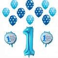13 шт./лот, воздушные шары для первого дня рождения, латексные шары в горошек для мальчиков и девочек, украшение для дня рождения