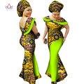 Plus Tamaño de invierno vestidos de las mujeres 2017 Ropa de moda Cera África Dashiki africano tradicional maxi vestido largo de algodón 7xl WY1189