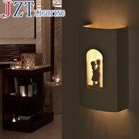 M E14 Gypsum Art Cartoon Wall Lamp Weight 3 5kg Size 26 39 17cm Pure Handmade