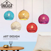 Modern Ceiling Lamp Wrought Aluminum Pendant Lights Vintage Bar Lighting Kitchen Office Led Colorful Metal Light Fixtures