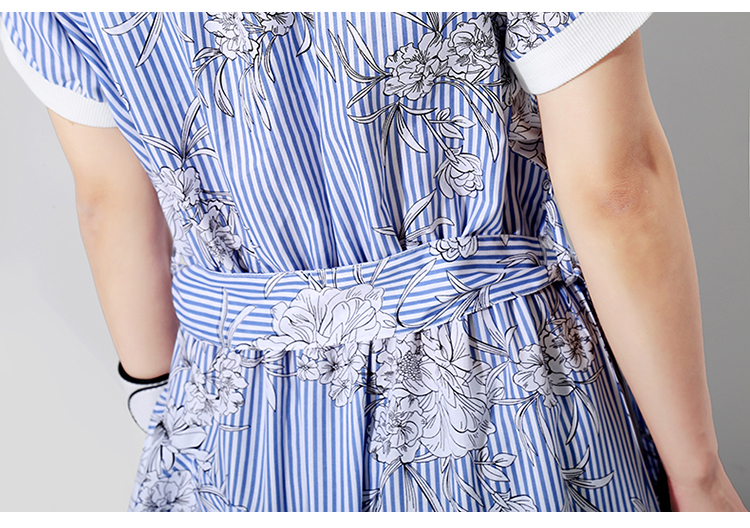 New Fashion Style Blue Striped Tunic Dress Fashion Nova Clothing