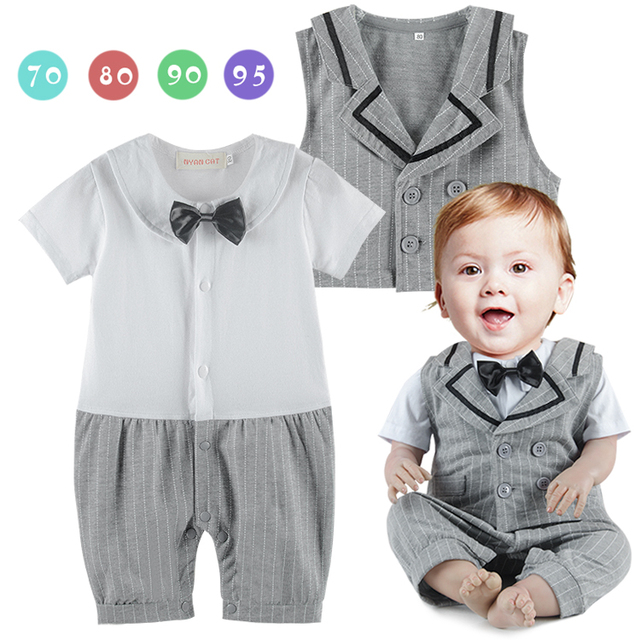 46ec20549 DHL EMS Free shipping Infants Baby boys Kids gentleman Grey Stripe ...