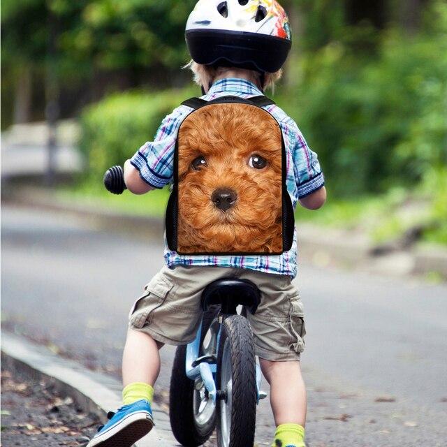 INSTANTARTS drôle 3D faux Denim poche carlin chien imprimer bébé sacs décole belle maternelle étudiants cartables enfants sacs à dos