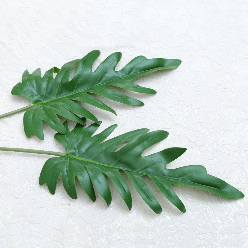 3Pcs Artificial Leaf Tropical Leaves Simulation Leaf Theme Party Decor Home Garden Artificial Flower decor Accessories