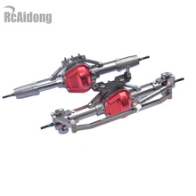High Quality 1/10 Rc Car Complete Alloy Front And Rear Axle CNC Machined for 1:10 Rc Crawler AXIAL SCX10 RC4WD D90 Truck