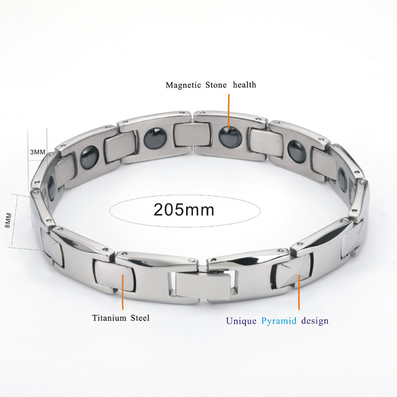 2019 Fashion man Bangles bracelets for men bijoux titanium 316L stainless steel Jewelry charm therapy magnetic bracelet (6)