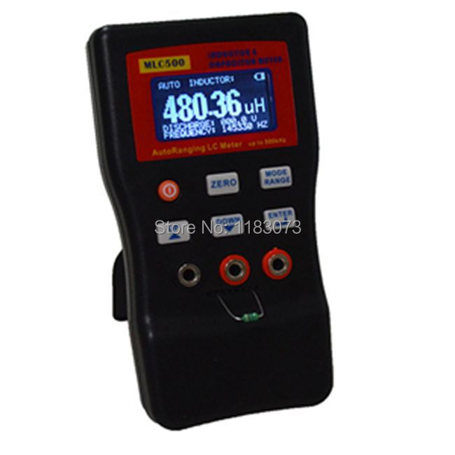 MLC500 LCD Henrymeter High resolution auto-ranging component tester 500KH LC Meter for LC and RC oscillation inductance meter plywood