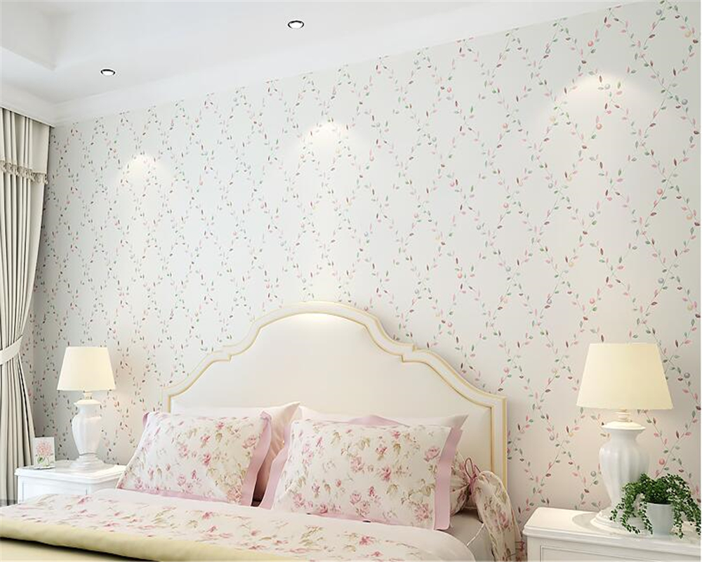 beibehang Stylish personality wall paper garden small floral bedroom living room romantic romantic nonwoven 3d wallpaper tapety beibehang three dimensional pastoral floral nonwoven 3d wall paper warm pink children s bedroom girl bedroom european wallpaper