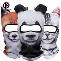 3D Cute Animal Ear Balaclava Neck Warmer Face Mask Bicycle Winter Snowboard Costume Halloween Party Cat Dog Panda Full Face Mask
