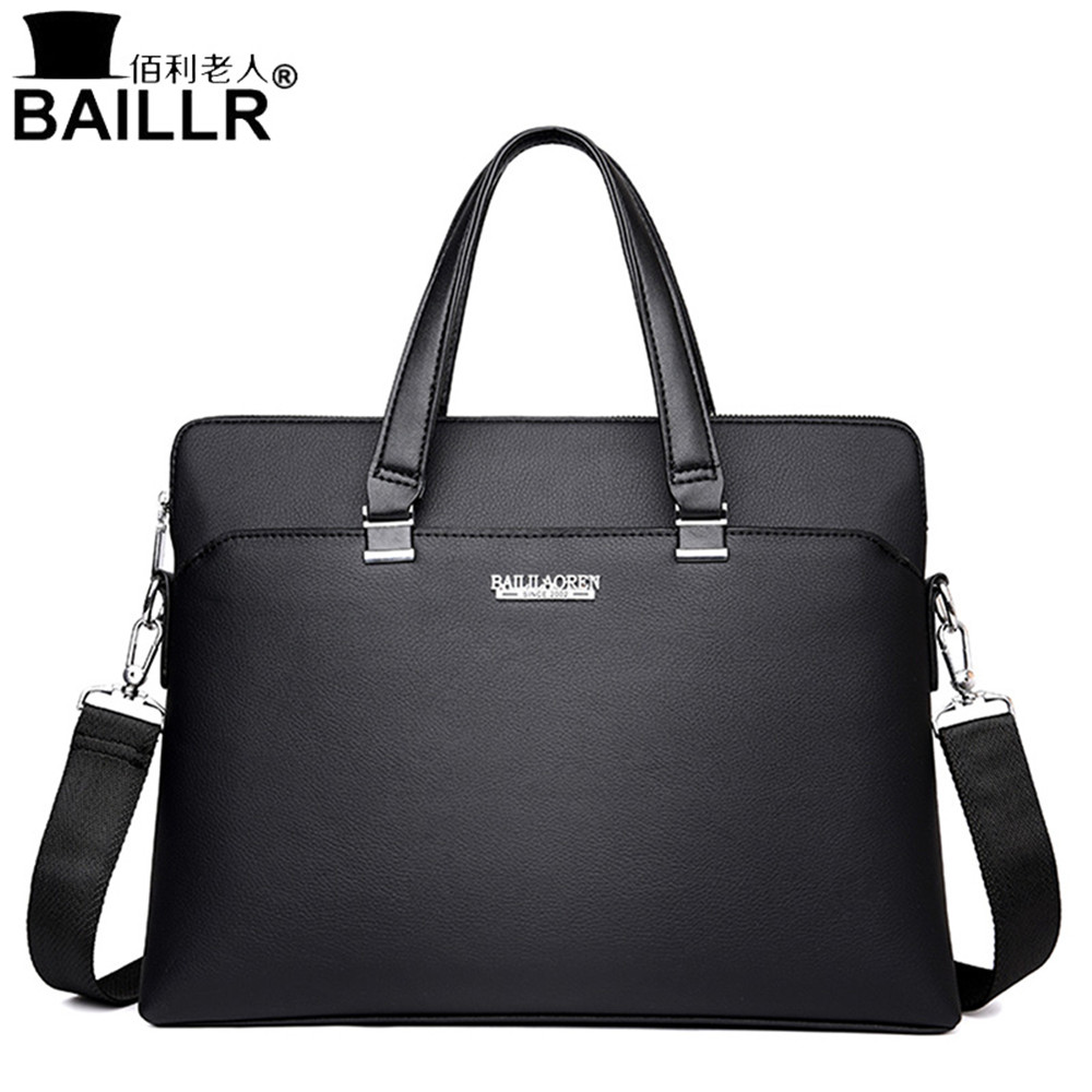 High Quality Leather Men Tote Bags Business Shoulder Bag Fashion Handbags Male Laptop Briefcase Travel Bags Men's Messenger Bag 3colors hk dashan brand men s briefcase high quality pu leather business man 15 laptop handbags black fashion casual male bags