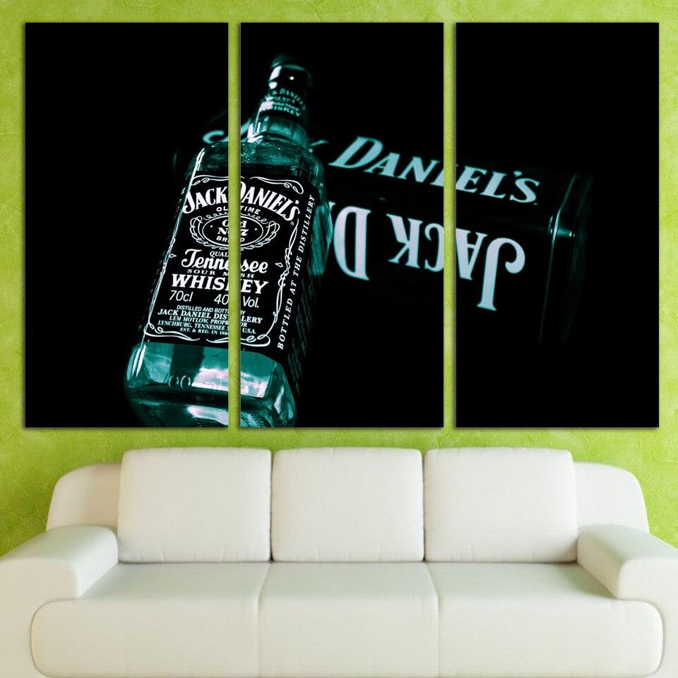 Rushed Zeitlich begrenzte 3 Platten Leinwandkunst Jack Daniels ...
