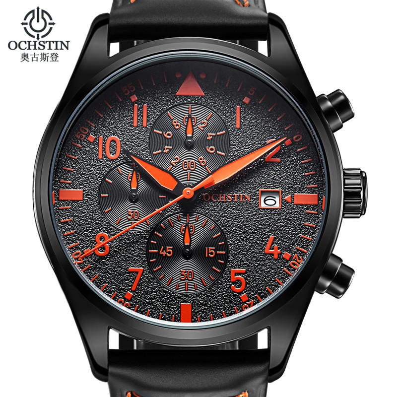 OCHSTIN Watch Men Chronograph Date Luminous Quartz Watch Mens Watches font b Top b font font