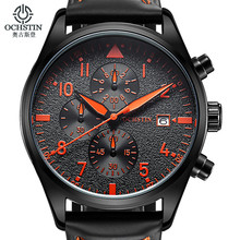 OCHSTIN Watch Men Chronograph Date Luminous Quartz-Watch Mens Watches Top Brand Luxury Sport Wristwatch relogio masculino