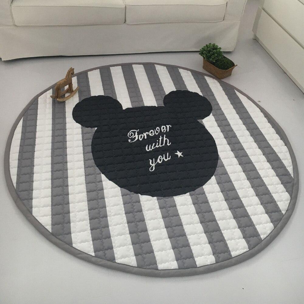 Couverture d'étoile blanche grise de mode de Muslinlife, tapis de jeu de bébé 150*150 cm, tapis fonctionnel de chambre de bébé