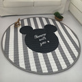 Fashion Grey White Star Blanket, baby play mat 150*150cm, Functional Baby Room Carpet