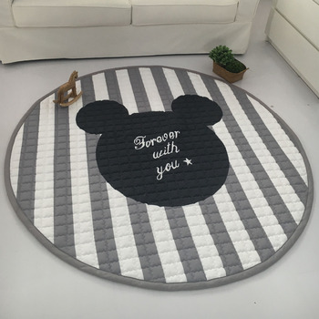Muslinlife Fashion Grey White Star Blanket, baby play mat 150*150cm, Functional Baby Room Carpet
