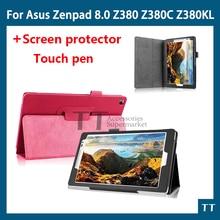 PU leather case cover For Asus Zenpad 8.0 P024 Z380 Z380C Z380KL 8 inch