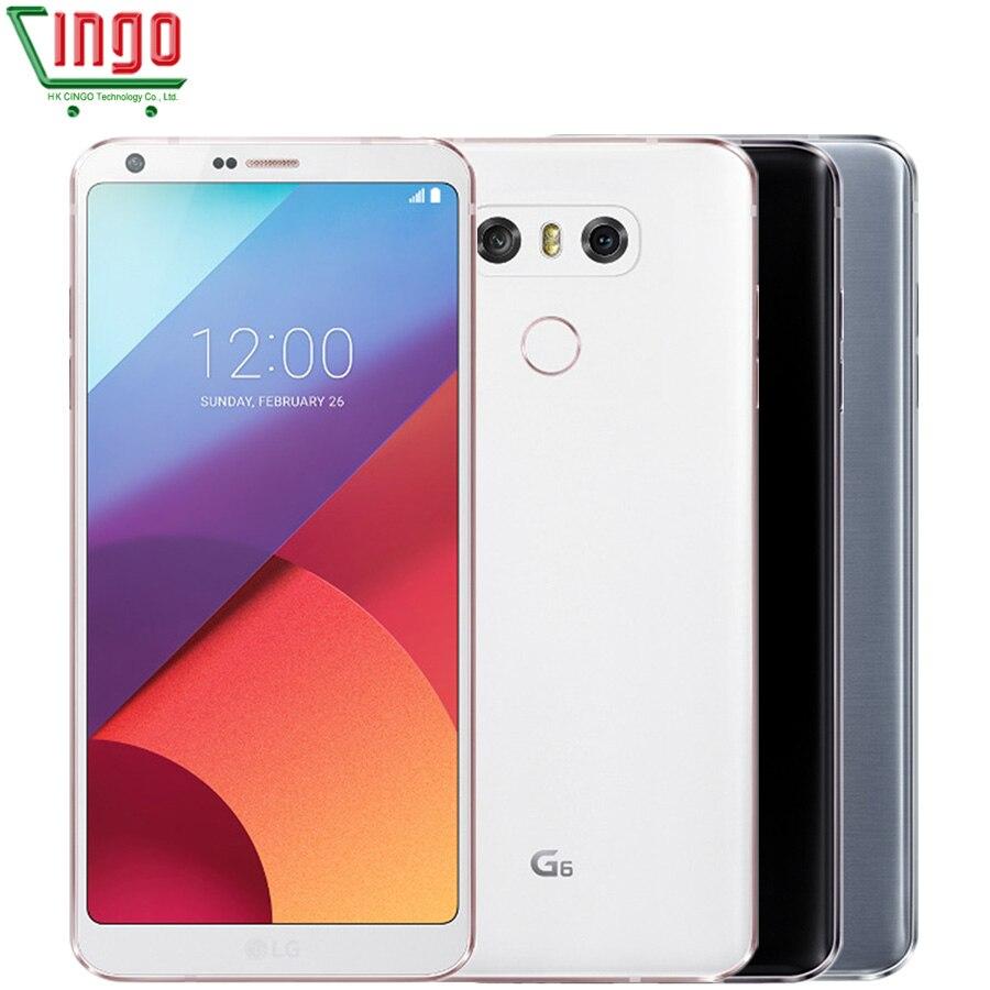Оригинальный LG G6 4 ГБ Оперативная память 32 ГБ Встроенная память двойной камеры заднего Quad-core 5,7 13MP воды и пыли Беспроводной зарядки смартфон