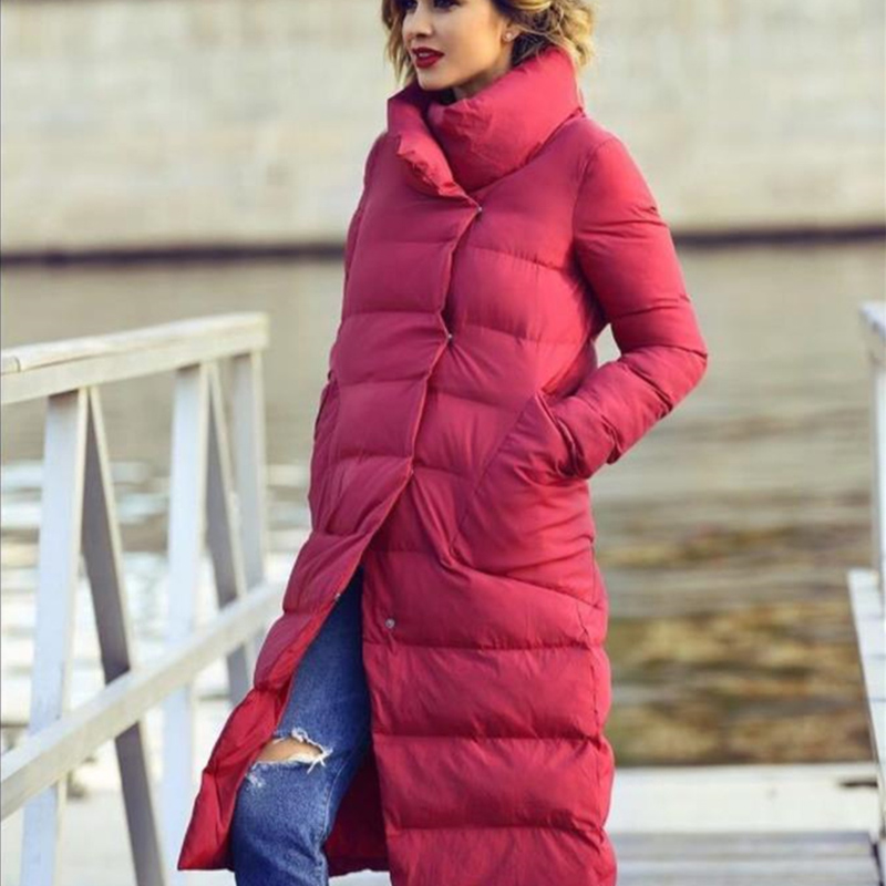 2018 Winter Women Long Design Parkas Plus Size Women's Cotton-padded Outerwear Clothes abrigos mujer invierno  a193