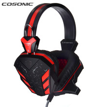 Cosonic CD-618 Universel Ordinateur Gaming Headset Gamer PC USB Casque Avec Microphone Gamer Gaming Casque Écouteur LED