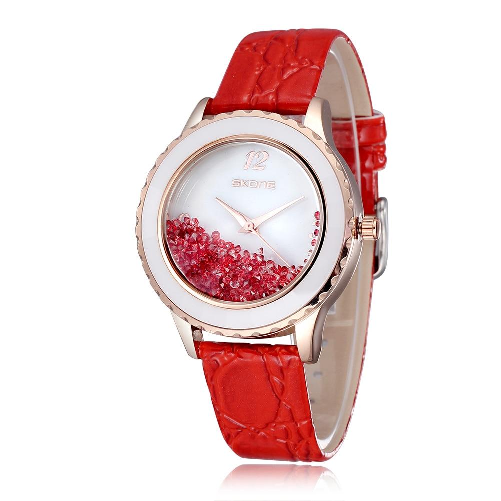 Skone Luxury Brand Orologio Donna Fashion Gold Watch Women Casual Leather Clock Female Quartz Wristwatch Ladies Dress Watch hot luxury brand fashion orologio donna fashion business watch women casual leather clock female quartz ladies wristwatch