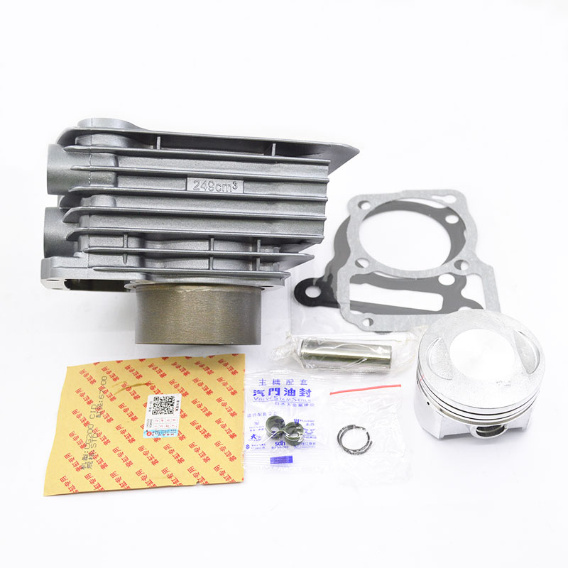 Motorcycle Cylinder Kit 67mm Bore For SHINERAY CG250 CG 250 250cc Air Water Double Cooled Engine Spare Parts high quality motorcycle cylinder kit for yamaha majesty yp250 yp 250 250cc engine spare parts page 6