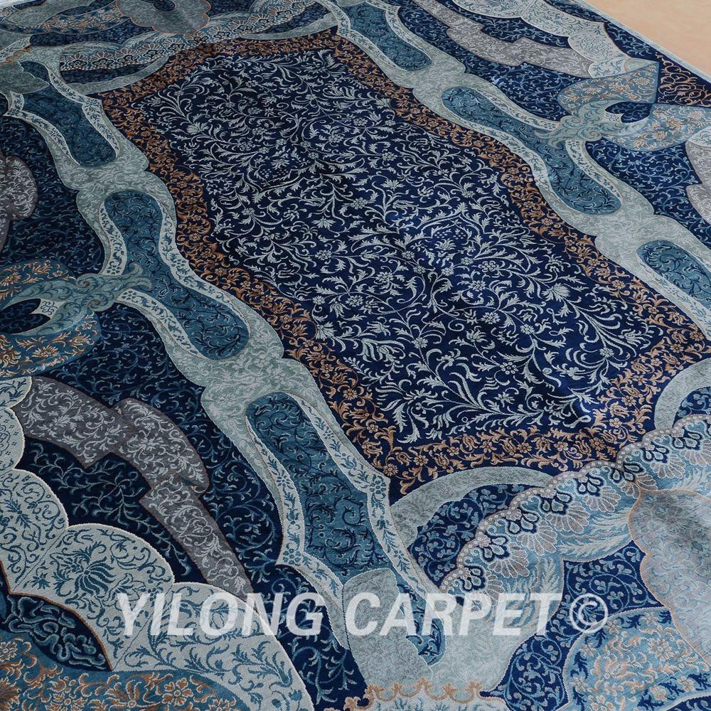 Yilong 6'x9 'turkisk handknuten silke persisk matta unikt mönster - Hemtextil - Foto 3