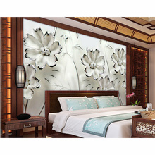 picture in picture Beautiful Flowers Custom Murals Wall Paper 3D Photo Wallpaper TV background For Walls Relief Non-woven #182