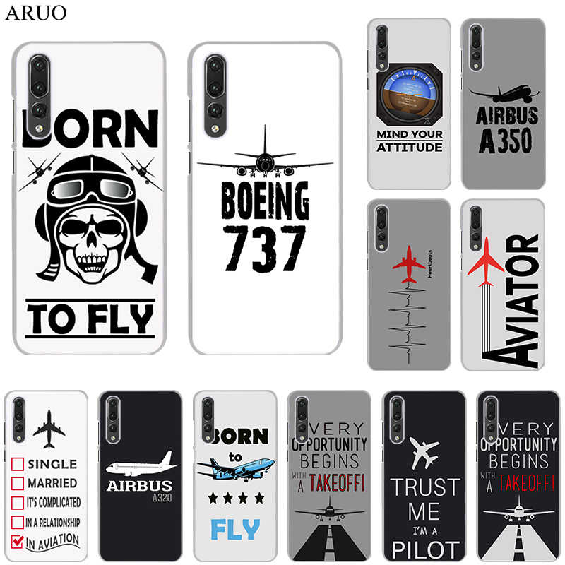 Aircraft Airplane in the Sky Clear Cover Case for huawei P30 P30lite P30Pro P20 P20lite P20Pro P10plus P10lite Psmate2019 P9 P8