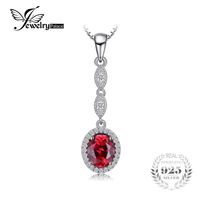 Jewelrypalace classic 3ct created red ruby pendants 925 sterling jewelrypalace classic 3ct created red ruby pendants 925 sterling silver fashion wedding jewelry for women not mozeypictures Image collections