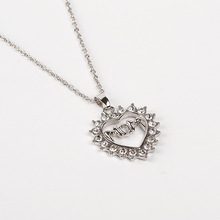 March 8 Mother's Day gift for her mother to express their love of a mother's love rhinestones necklace female MOM