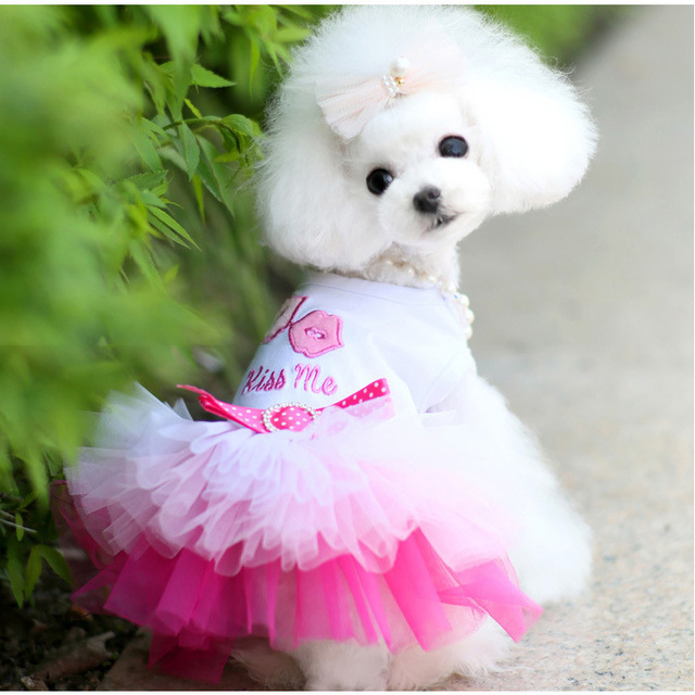 nuevo! perro vestido de novia, ropa para mascotas, perro gato ropa