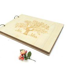 Персонализированная деревенская деревянная Гостевая книга Mr& Mrs DIY Свадебная Гостевая книга фото книга памяти альбом Подарок на годовщину