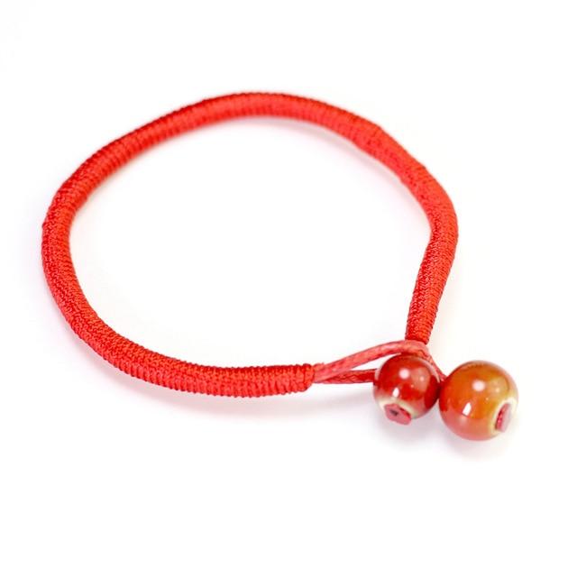 ce83a4c9e3673 Creative Women Lucky Bracelets Bead Red String Ceramic bracelets   bangles  Men Handmade Accessories Lovers Lucky