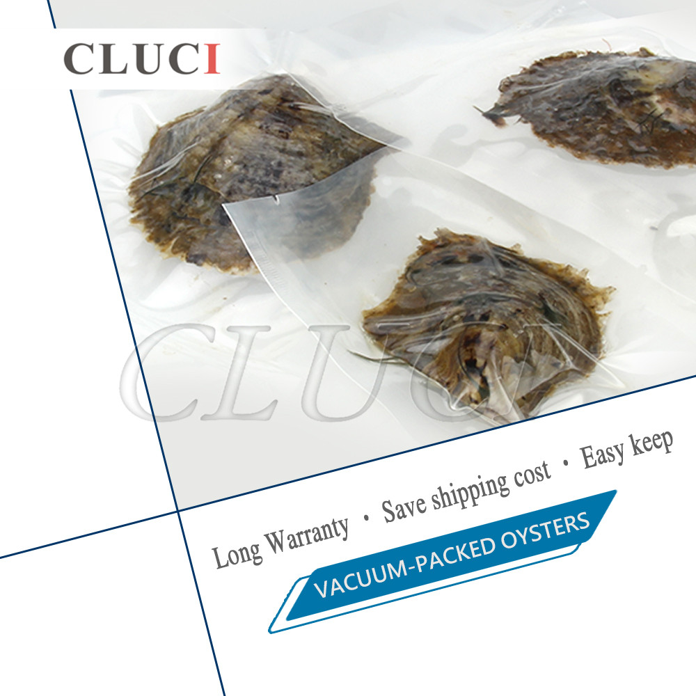 CLUCI 30pcs Wish Pearl Oyster 7-8mm Round Akoya Pearl in Oysters Natural Saltwater Oysters with Pearls