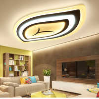 Control remoto sala de estar dormitorio moderno led luces de techo luminarias para sala atenuación led lámparas de techo
