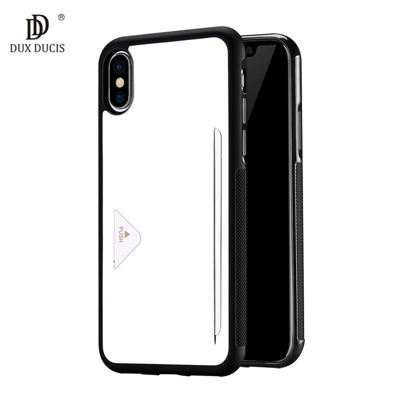 Galleria fotografica PU Leather Card Case for iPhone X Wallet Credit Card Slot Back Cover for iPhone X / iPhone 10 5.8