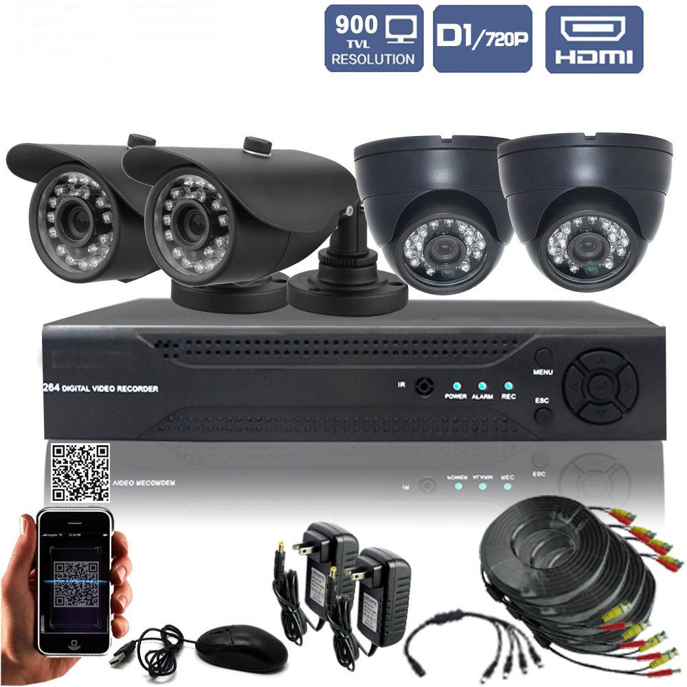 Digital Wireless 4CH CCTV DVR Day Night Security Camera Surveillance System with 9″ TFT LCD DVR Monitors (2 digital Cameras Kit)